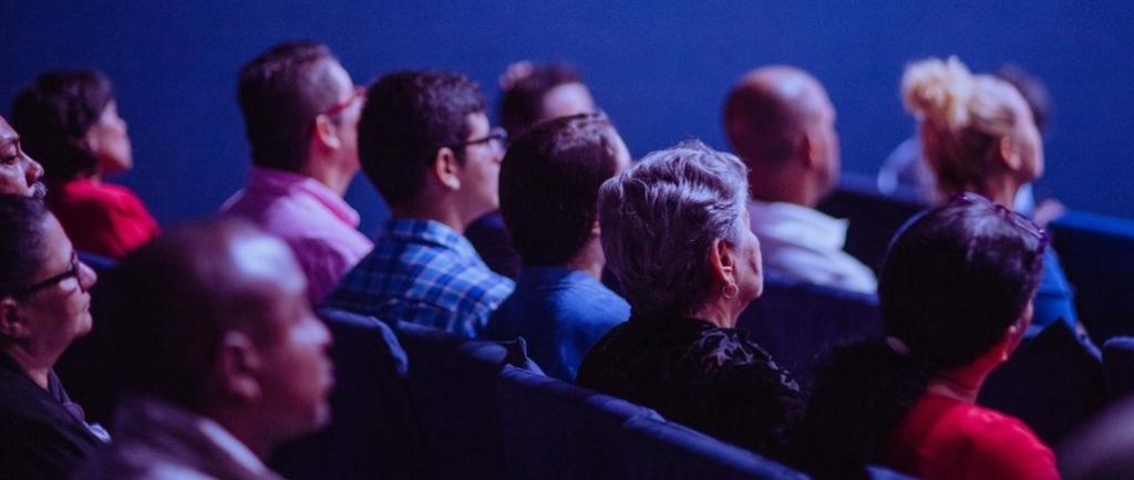 Audience looking forward.